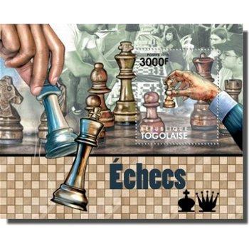 Schach - Briefmarken-Block, Togo