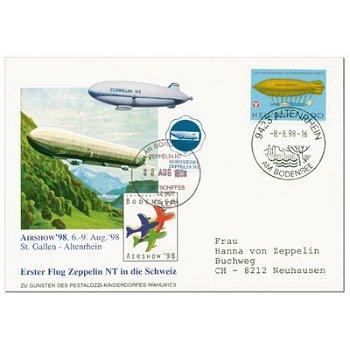 Erster Flug des Zeppelin NT in die Schweiz