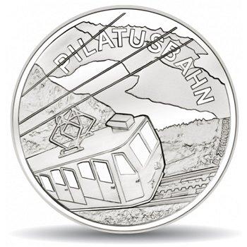 Pilatusbahn, 20 Franken Münze 2011 Schweiz, Stempelglanz