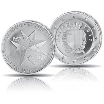 EU-Präsidentschaft, 10 Euro Silbermünze 2017, polierte Platte, Malta