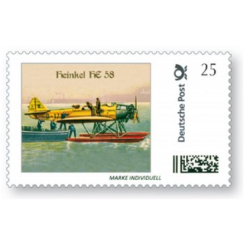 Airplane Heinkel HE 58 / port - stamp individually mint never hinged