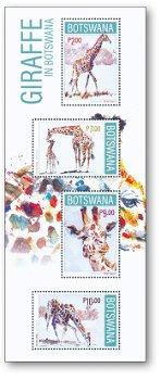 Giraffen - Briefmarkenblock postfrisch, Botswana