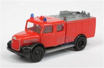 Modell-LKW:Steyr 586 TLF 1500 - Feuerwehr -(Herpa, 1:87)