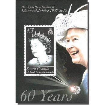 Diamantenes Jubiläum Königin Elisabeth II. - Briefmarken-Block, Süd-Georgien