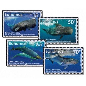 Wale - 4 Briefmarken postfrisch, Bahamas