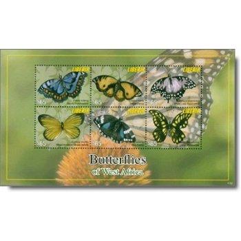 Schmetterlinge - Briefmarken-Block postfrisch, Liberia