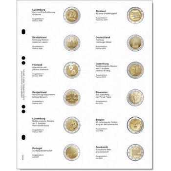 Lindner Vordruckblatt für 2 Euro-Gedenkmünzen: Luxemburg 2006 - Frankreich 2008, LI MU2E2