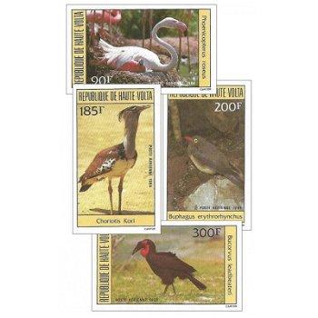 Vögel - Briefmarken ungezähnt postfrisch, Katalog-Nr. 935-938, Obervolta