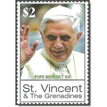 Papst Benedikt XVI. - Briefmarke postfrisch, St. Vincent und Grenadinen