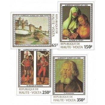 450. Todestag von Albrecht Dürer – Briefmarken postfrisch, ungezähnt, Katalog-Nr. 732-735, Obervolta