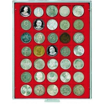 LINDNER Münzenbox, quadratische Vertiefungen 36mm, LI 2135, Standard