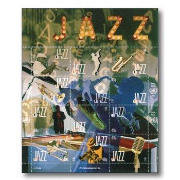 Internationaler Tag des Jazz - Kleinbogen postfrisch, UNO New York
