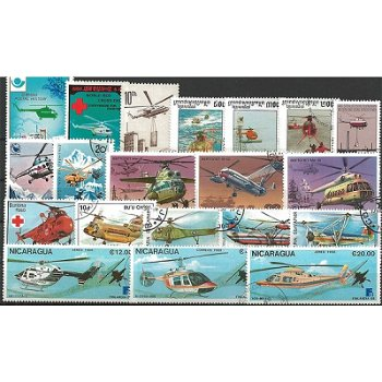 Helicopter - 50 different stamps