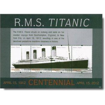 Titanic - Briefmarken-Block, postfrisch, St. Vincent und Grenadinen