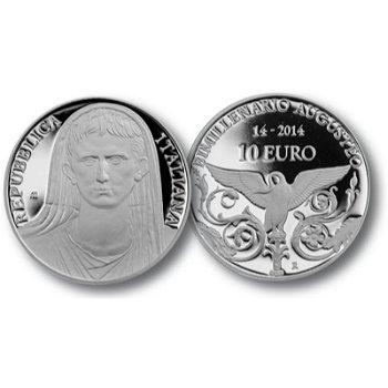 Kaiser Augustus, 10 Euro Silbermünze Italien