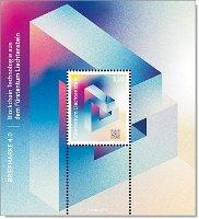 Crypto-Briefmarke 4.0, Blockchain Technologie - Block postfrisch, Liechtenstein