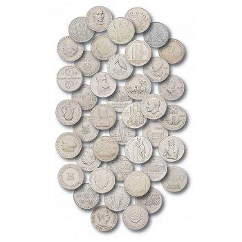 10-Mark-Münzen DDR, Komplette Sammlung