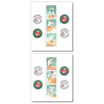 100 Jahre Internationale Französische Meisterschaften im Tennis - 6 Luxusblocks postfrisch, Katalog-