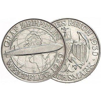3 Reichsmark, Weltflug Graf Zeppelin, Jaeger-Nr. 342, Weimarer Republik