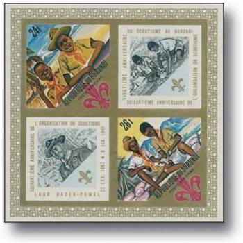 Pfadfinder - Briefmarken-Block postfrisch, Burundi
