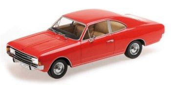 Modellauto:Opel Rekord C Coupé von 1966, rot(Minichamps, 1:18)