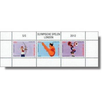 Olympische Sommerspiele 2012 - Briefmarken-Block postfrisch, Sint Maarten