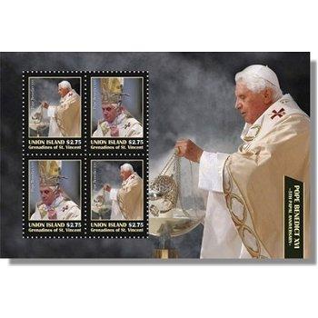 5 Jahre Pontifikat von Papst Benedikt XVI. - Briefmarken-Block postfrisch, St. Vincent und Grenadine