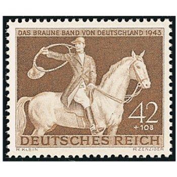 """Rennen um """"Das Braune Band"""" 1943 - Briefmarke, Katalog-Nr. 854, postfrisch, Deutsches Reic"""