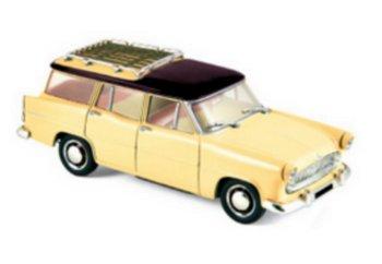 Modellauto:Simca Vedette Marly von 1957, gelb-schwarz(Norev, 1:43)