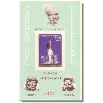 Amerikanische Raumfahrt - Briefmarken-Block postfrisch ungezähnt, Block 57, Paraguay