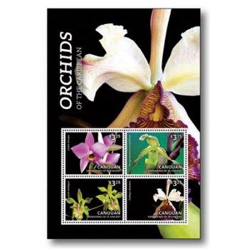 Orchideen - Briefmarken-Block postfrisch, St. Vincent