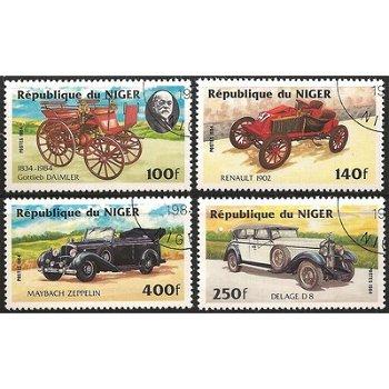 Autos - vier Briefmarken, Niger