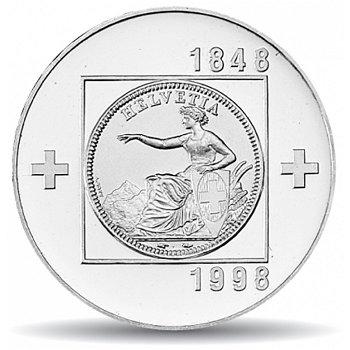150 Jahre schweizerischer Bundesstaat, 20 Franken Münze 1998 Schweiz, Stempelglanz