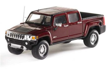 Modellauto:Hummer H3T Pick Up, bordeaux(Luxury Collectibles, 1:43)