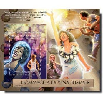 Tod von Donna Summer – Briefmarken-Block postfrisch, Katalog-Nr. 9367, Block 2130, Guinea