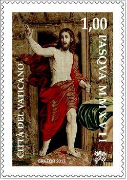 Ostern 2017, Auferstehung - Briefmarke postfrisch, Vatikan