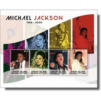 Michael Jackson - Briefmarken-Block postfrisch, St. Vincent & Grenadinen