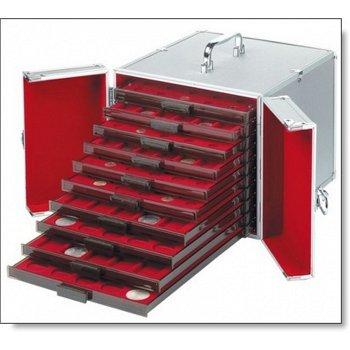 Münzkoffer aus Aluminium CARGO MB 10, für 10 Münzboxen, Leuchtturm 309030