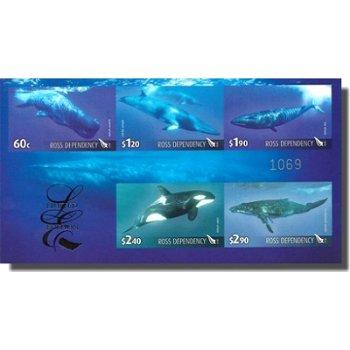 Wale - Briefmarken-Block ungezähnt, Ross-Gebiete