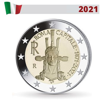 150 Jahre Rom als Hauptstadt Italiens - 2 Euro Gedenkmünze, Italien
