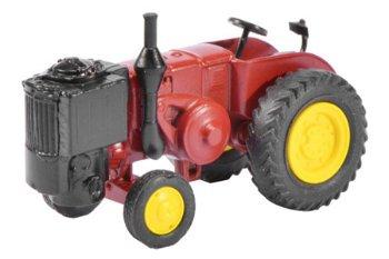 Modell-Traktor:Lanz Bulldog mit Holzgenerator, rot(Schuco, 1:87)