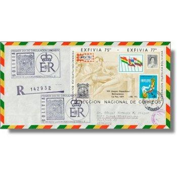 25 Jahre Krönung Königin Elisabeth, Briefmarkenausstellung CAPEX '78 - Block 75 auf echtgelaufenem E