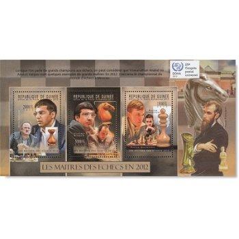 Schachspieler – Briefmarken-Block postfrisch, Katalog-Nr. 9316-9318, Guinea