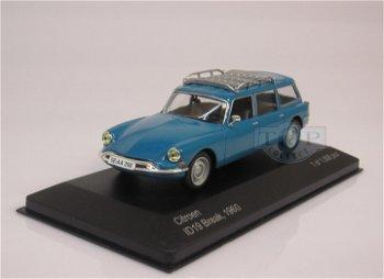 Modellauto:Citroen ID 19 Break von 1960, blau(WhiteBox, 1:43)