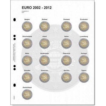 Lindner Vordruckblatt für 2 Euro-Gedenkmünzen: Gemeinschaftsausgabe 10 Jahre Euro-Bargeld, LI MU2E8