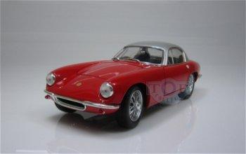 Modellauto:Lotus Elite von 1960 (RHD), rot-silber(WhiteBox, 1:18)