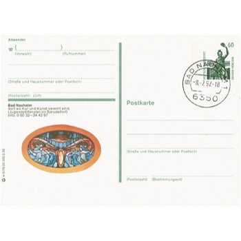 "6350 Bad Nauheim ""Jugendstilfenster im Sprudelhof"" - Bildpostkarte"