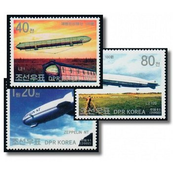100 years of Zeppelin airships - 3 stamps mint never hinged, catalog no. 4521-23, Nordkoew