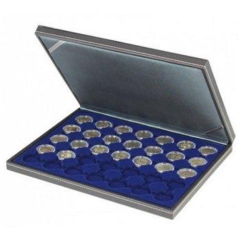 Nera Münzkassette M für 2 Euro Münzen gekapselt, Münzeinlage blau, Lindner 2364- 2530ME