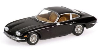 Modellauto:Lamborghini 400 GT 2+2 von 1964, schwarz(Minichamps, 1:43)